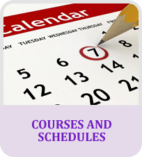 Courses and schedules